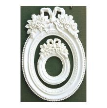Prima Frank Garcia Memory Hardware Resin Frames 2/Pkg - Blanc Fleur Oval
