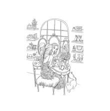 Prima Princesses Cling Stamp 5X7 - Gussy Up