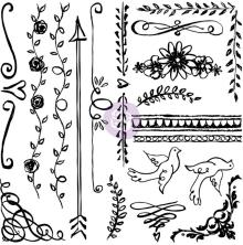 Prima Iron Orchid Designs Decor Clear Stamps 12X12 - Expressions