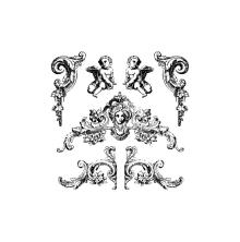 Prima Iron Orchid Designs Decor Clear Stamps 12X12 - Trompeloeil 2