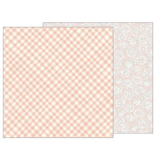 Jen Hadfield Heart Of Home Double-Sided Cardstock 12X12 - Painted Gingham