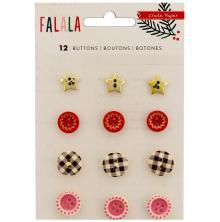 Crate Paper Buttons 12/Pkg - Fa La La