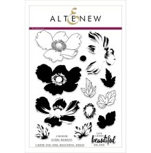 Altenew Clear Stamp And Die Build A flower - Anemone