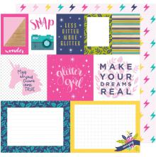 Shimelle Glitter Girl Double-Sided Cardstock 12X12 - Mix And Match