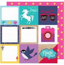 Shimelle Glitter Girl Double-Sided Cardstock 12X12 - Be A Square