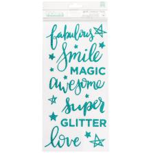 Shimelle Thickers Stickers 5.75X12 - Glitter Girl Sparkle
