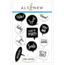 Altenew Clear Stamps 6X8 - Speech Bubbles