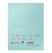 Yupo Paper 9X12 15 Sheets/Pkg - Translucent 153gsm