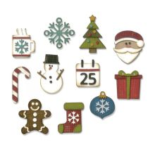 Tim Holtz Sizzix Thinlits Dies 11/Pkg - Mini Christmas Things