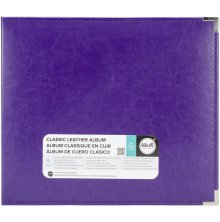 We R Memory Keepers Classic Leather D-Ring Album 12X12 - Grape Soda
