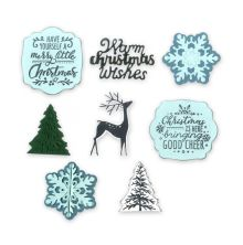 Sizzix Framelits Dies W/Stamps - Christmas is Here