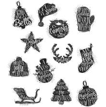 Tim Holtz Cling Stamps 7X8.5 - Mini Carved Christmas