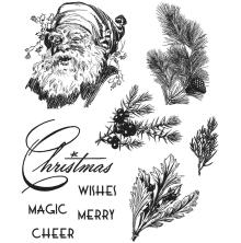 Tim Holtz Cling Stamps 7X8.5 - Christmas Classic