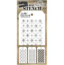 Tim Holtz Mini Layered Stencil Set 3/Pkg - Set 31