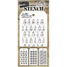 Tim Holtz Mini Layered Stencil Set 3/Pkg - Set 32