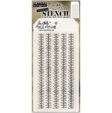 Tim Holtz Layered Stencil 4.125X8.5 - Tinsel