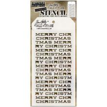 Tim Holtz Layered Stencil 4.125X8.5 - Merry Christmas