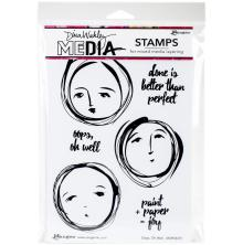 Dina Wakley Media Cling Stamps 6X9 - Oops, Oh Well