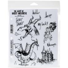 Stampers Anonymous Brett Weldele Cling Stamps 7X8.5 - The Derpy Dragon