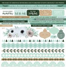 Kaisercraft Cardstock Stickers 12X12 - Mint Wishes