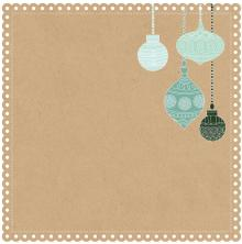 KaisGingerbread Cookieercraft Mint Wishes Die-Cut Cardstock 12X12 -