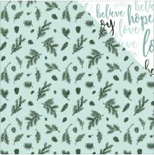 Kaisercraft Mint Wishes Double-Sided Cardstock 12X12 - Spearmint