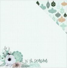 Kaisercraft Mint Wishes Double-Sided Cardstock 12X12 - Flannelette
