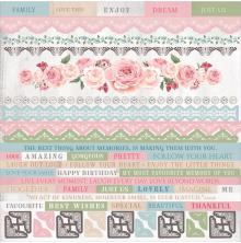 Kaisercraft Cardstock Stickers 12X12 - Rose Avenue