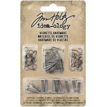 Tim Holtz Idea-Ology Vignette Hardware Pack-Hooks, Nails, Screw Eyes & Lo