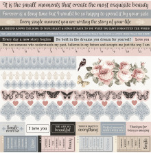 Kaisercraft Cardstock Stickers 12X12 - Romantique