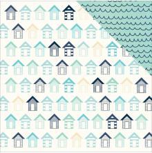 Kaisercraft Summer Splash Double-Sided Cardstock 12X12 - Beach Huts