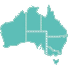 Kaisercraft Decorative Die - Map Of Australia