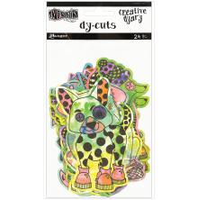 Dylusions Creative Dyary Die Cuts - Colored Animals