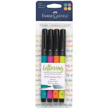 Faber Castell Mix & Match PITT Artist Brush Pens 4/Pkg - Bright