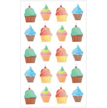 Mrs. Grossmans Watercolor Stickers 4X6.5 - Cupcakes Strips