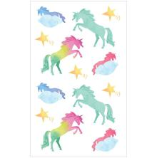 Mrs. Grossmans Watercolor Stickers 4X6.5 - Unicorns Strips