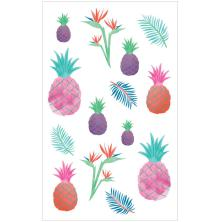 Mrs. Grossmans Watercolor Stickers 4X6.5 - Pineapples Strips
