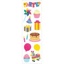 Mrs. Grossmans Stickers 2X6.5 3/Pkg - Party Time Strips