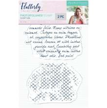 Sara Davies Flutterby A6 Clear Stamp - Scripture