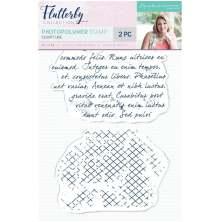 Sara Davies Flutterby A6 Clear Stamp - Scripture
