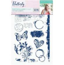 Sara Davies Flutterby A6 Clear Stamp - Textured Elements