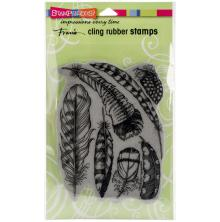 Stampendous Cling Stamp 7.75X4.5 - Feathers