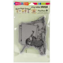 Stampendous House Mouse Cling Stamp 7.75X4.5 - Outdoor Painter