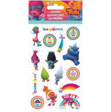 Trolls Standard Stickers 4 Sheets