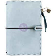 Prima Travelers Journal Leather Essential 5X7.25 - Ice Blue