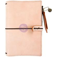 Prima Travelers Journal Leather Essential 5X7.25 - Peach