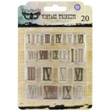 Prima Sunrise Sunset Mechanicals Metal Vintage Trinkets - Mini Roman Numerals