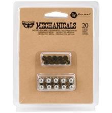 Prima Finnabair Mechanicals Metal Embellishments 20/Pkg - Mini Hardware