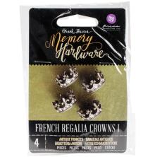 Prima Frank Garcia Memory Hardware Embellishments - French Regalia Crowns I