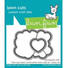 Lawn Fawn Custom Craft Die - How You Bean? conversation heart add-on